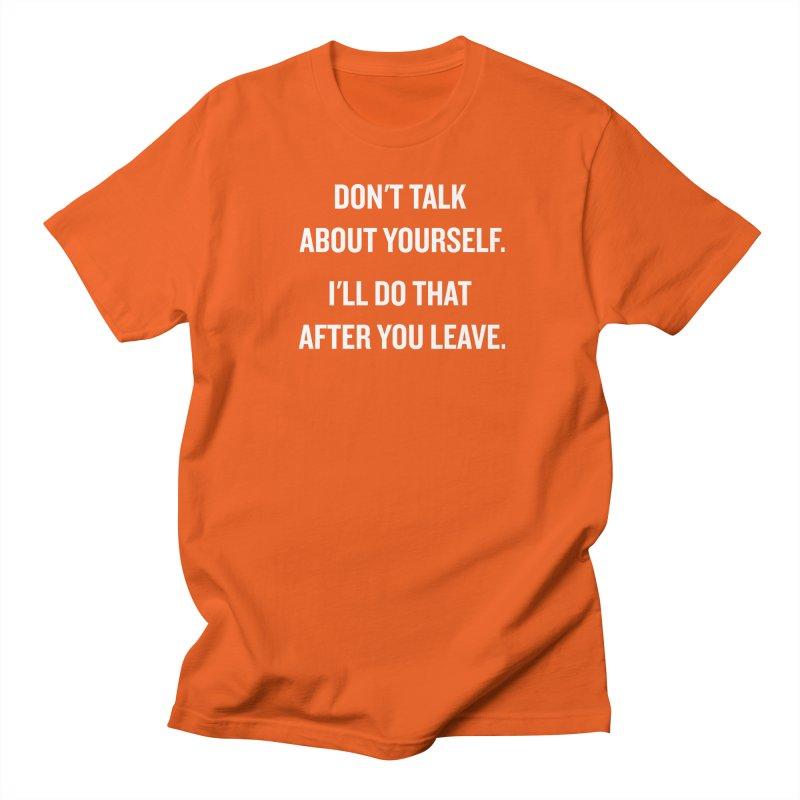 "SIDE EYE/""Talk About Yourself"" (White) Women's Unisex T-Shirt by Josh Sabarra's Shop"