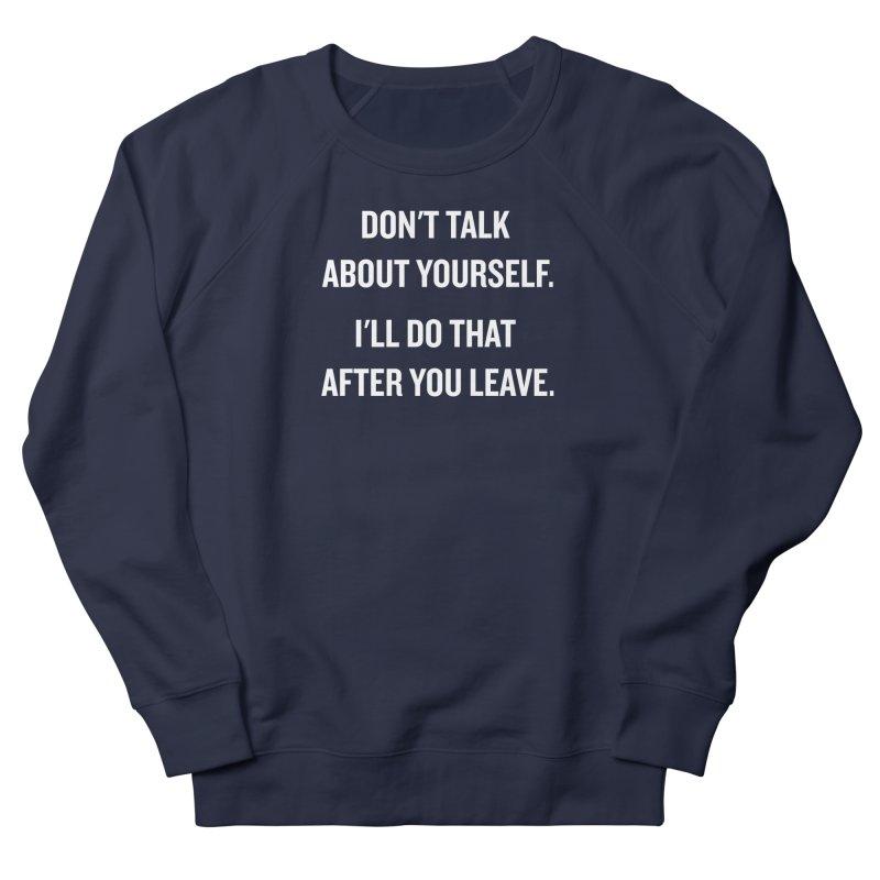 "SIDE EYE/""Talk About Yourself"" (White) Men's Sweatshirt by Josh Sabarra's Shop"