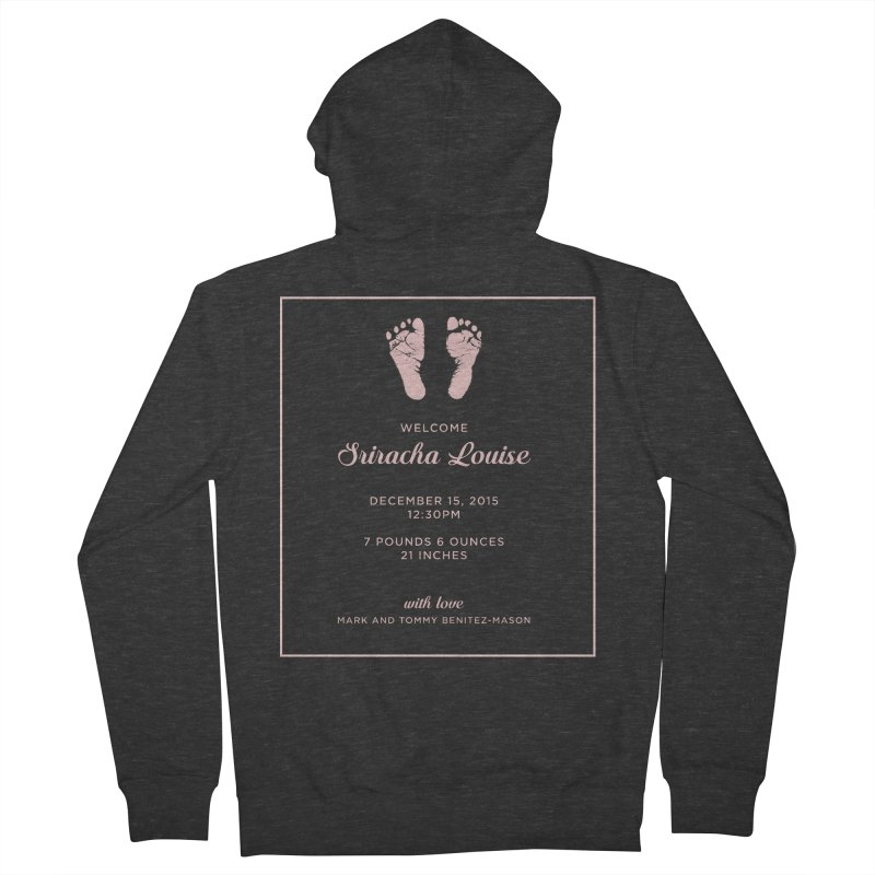 "ENEMIES CLOSER/""Sriracha Announcement"" (Pink) Men's Zip-Up Hoody by Josh Sabarra's Shop"
