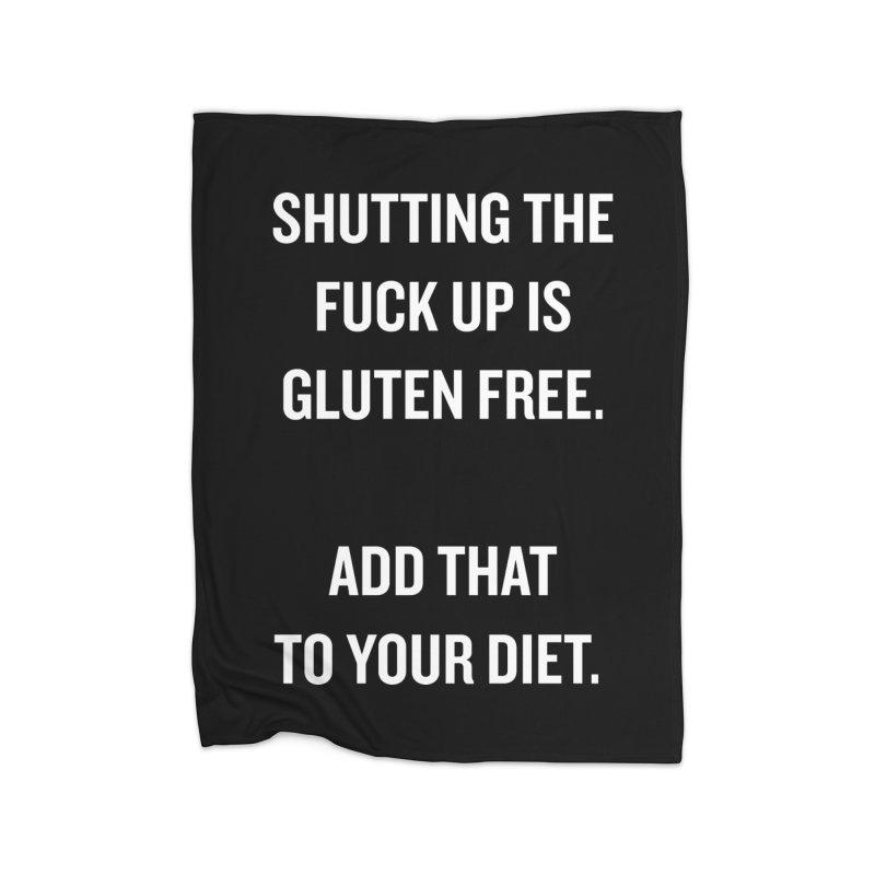 """SIDE EYE/""""Gluten Free"""" (White) Home Blanket by Josh Sabarra's Shop"""