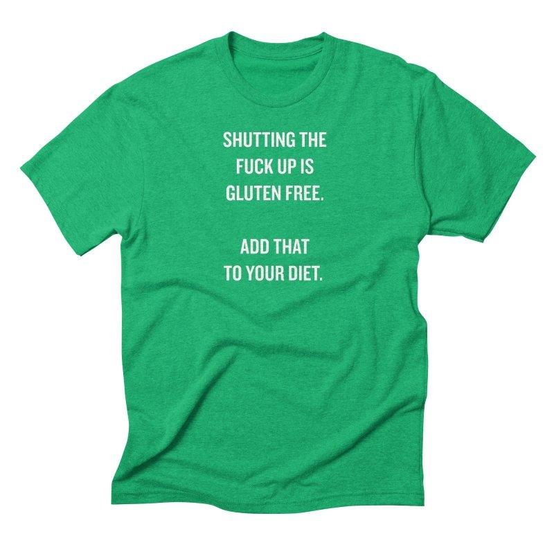 "SIDE EYE/""Gluten Free"" (White) Men's Triblend T-Shirt by Josh Sabarra's Shop"
