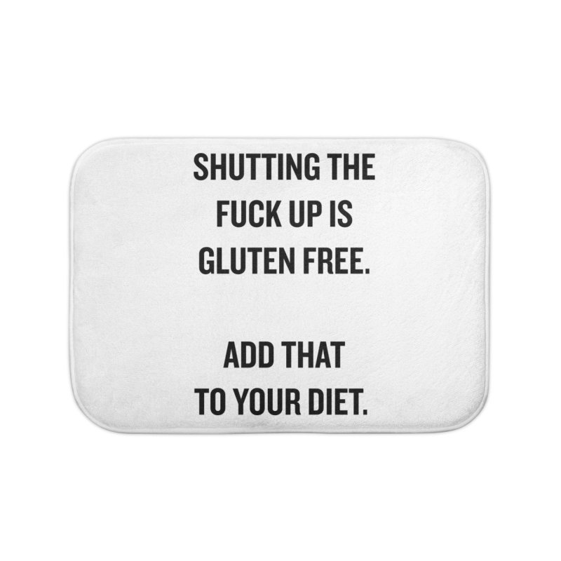 "SIDE EYE/""Gluten Free"" (Black) Home Bath Mat by Josh Sabarra's Shop"