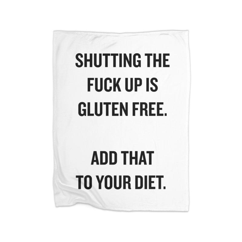 "SIDE EYE/""Gluten Free"" (Black) Home Blanket by Josh Sabarra's Shop"