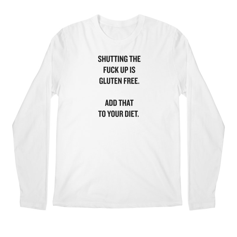 """SIDE EYE/""""Gluten Free"""" (Black) Men's Longsleeve T-Shirt by Josh Sabarra's Shop"""