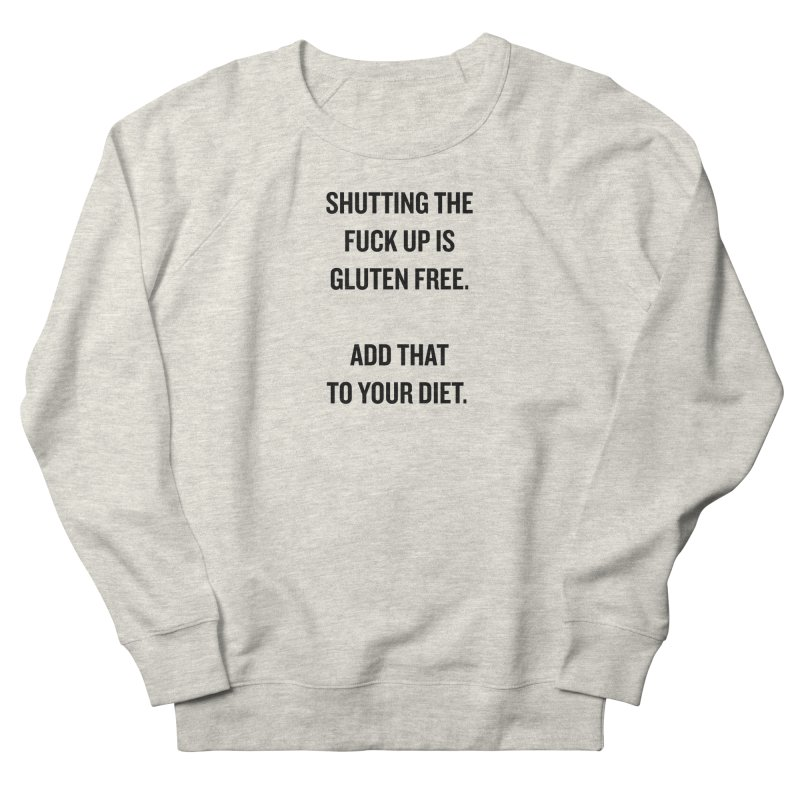 """SIDE EYE/""""Gluten Free"""" (Black) Women's Sweatshirt by Josh Sabarra's Shop"""