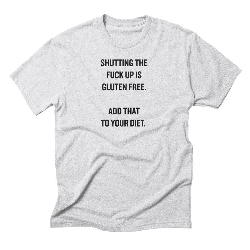 "SIDE EYE/""Gluten Free"" (Black) Men's Triblend T-Shirt by Josh Sabarra's Shop"