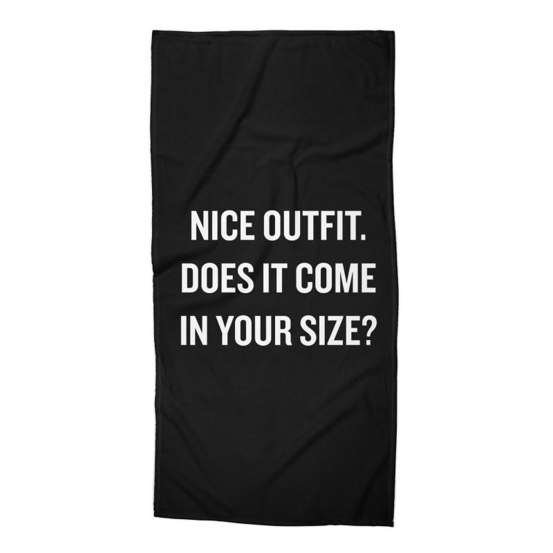 "SIDE EYE/""Nice Outfit"" (White) Accessories Beach Towel by Josh Sabarra's Shop"
