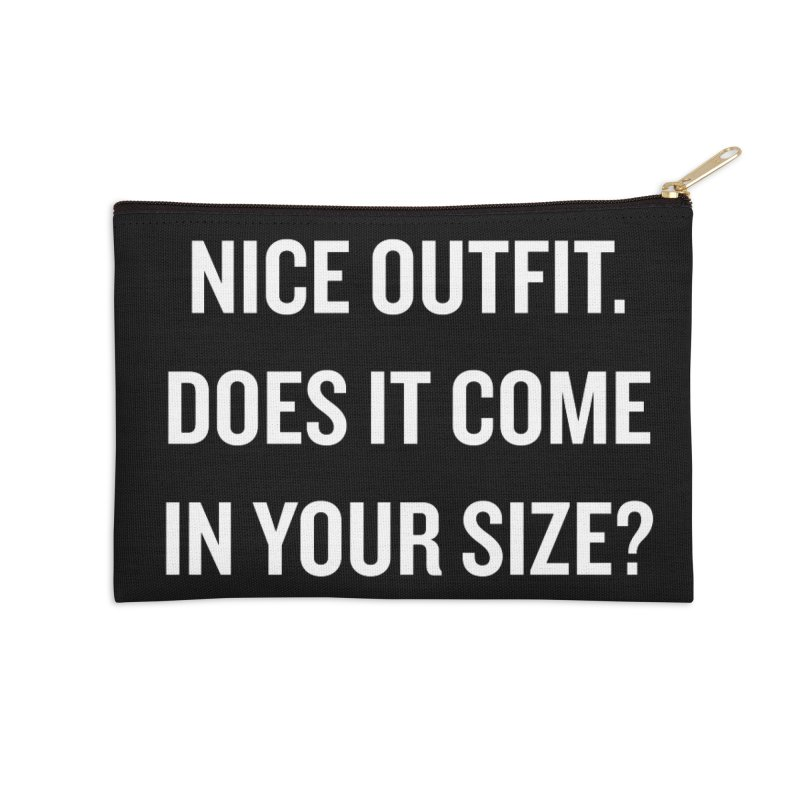 "SIDE EYE/""Nice Outfit"" (White) Accessories Zip Pouch by Josh Sabarra's Shop"