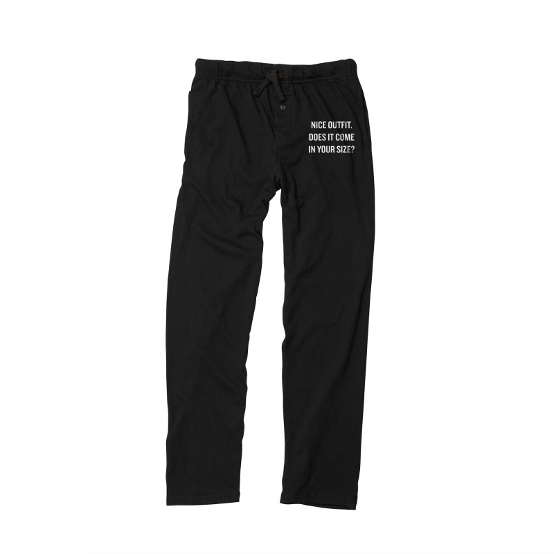"SIDE EYE/""Nice Outfit"" (White) Men's Lounge Pants by Josh Sabarra's Shop"