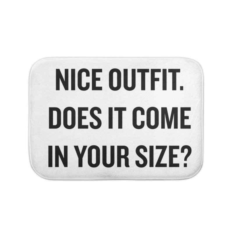 "SIDE EYE/""Nice Outfit"" (Black) Home Bath Mat by Josh Sabarra's Shop"