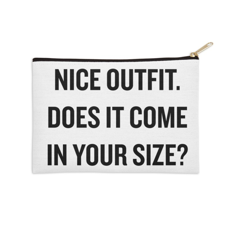 "SIDE EYE/""Nice Outfit"" (Black) Accessories Zip Pouch by Josh Sabarra's Shop"