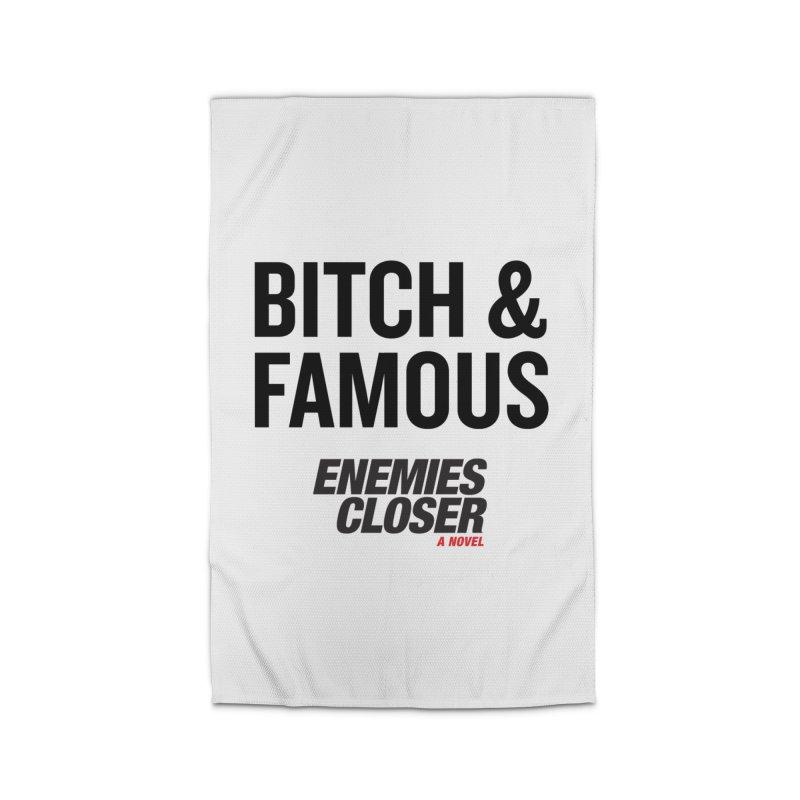 """ENEMIES CLOSER/""""Bitch & Famous"""" (Black) Home Rug by Josh Sabarra's Shop"""