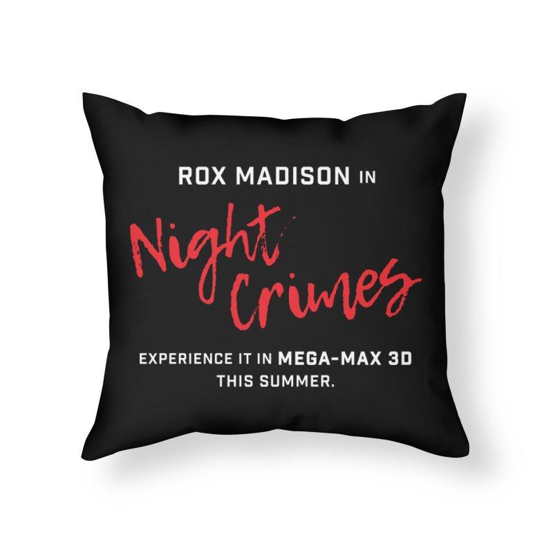 "ENEMIES CLOSER/""Rox Madison"" (White/Red) Home Throw Pillow by Josh Sabarra's Shop"