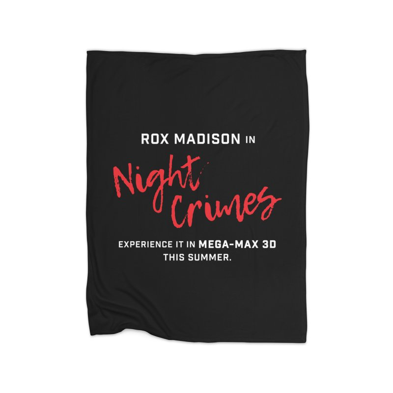 "ENEMIES CLOSER/""Rox Madison"" (White/Red) Home Blanket by Josh Sabarra's Shop"