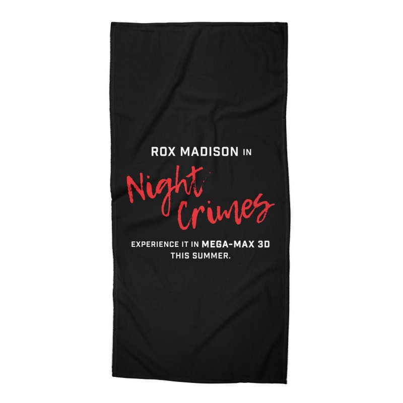 "ENEMIES CLOSER/""Rox Madison"" (White/Red) Accessories Beach Towel by Josh Sabarra's Shop"
