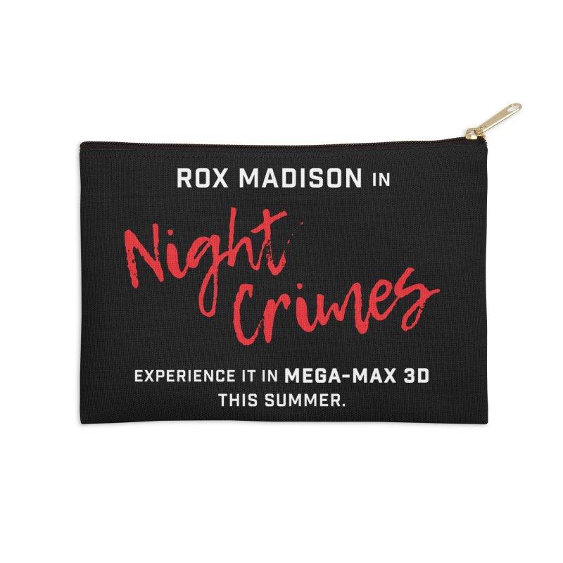 "ENEMIES CLOSER/""Rox Madison"" (White/Red) Accessories Zip Pouch by Josh Sabarra's Shop"
