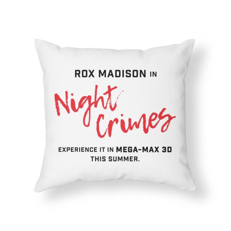 "ENEMIES CLOSER/""Rox Madison"" (Black/Red) Home Throw Pillow by Josh Sabarra's Shop"