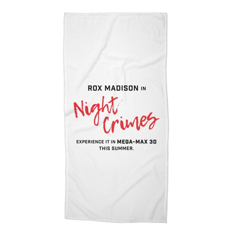 "ENEMIES CLOSER/""Rox Madison"" (Black/Red) Accessories Beach Towel by Josh Sabarra's Shop"