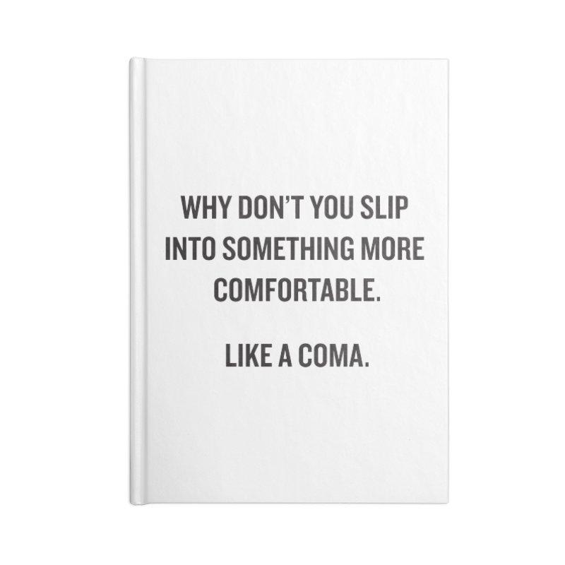 "SIDE EYE/""Coma"" (Black) Accessories Notebook by Josh Sabarra's Shop"