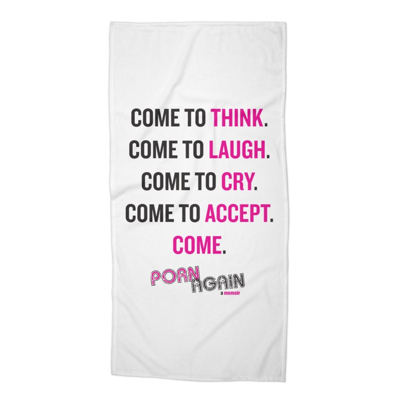 "PORN AGAIN/""Come"" (Black/Pink) Accessories Beach Towel by Josh Sabarra's Shop"