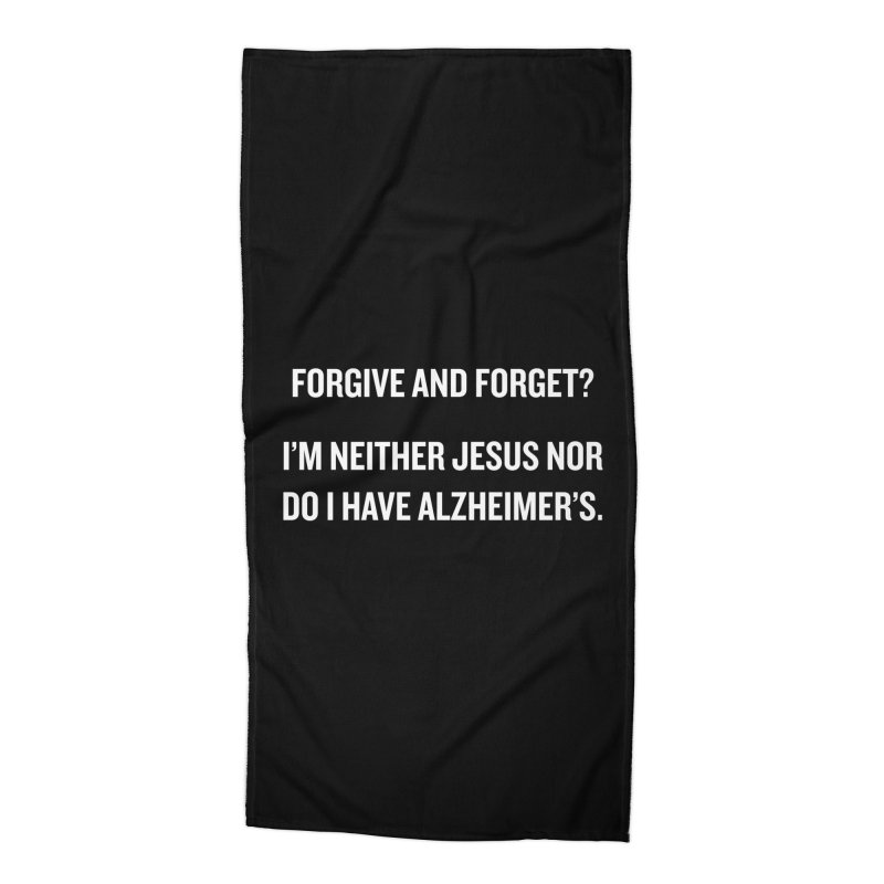 """SIDE EYE/""""Forgive and Forget"""" (White) Accessories Beach Towel by Josh Sabarra's Shop"""