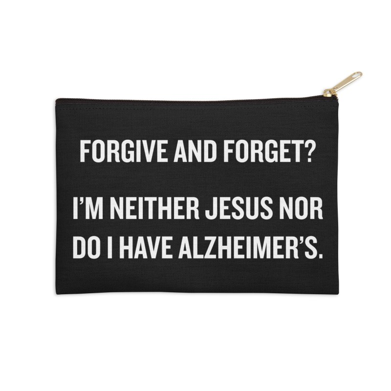 """SIDE EYE/""""Forgive and Forget"""" (White) Accessories Zip Pouch by Josh Sabarra's Shop"""