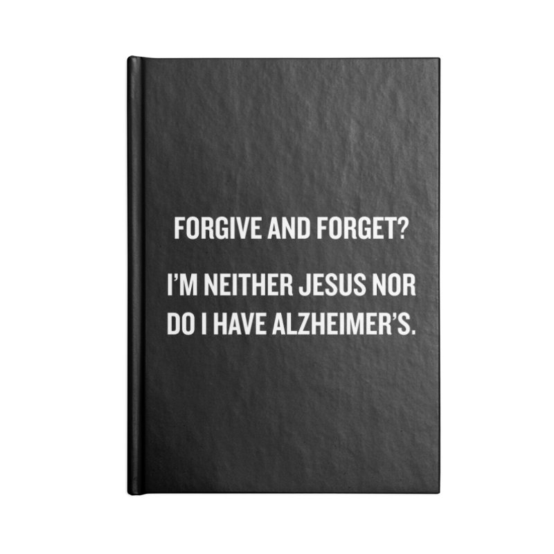 "SIDE EYE/""Forgive and Forget"" (White) Accessories Notebook by Josh Sabarra's Shop"