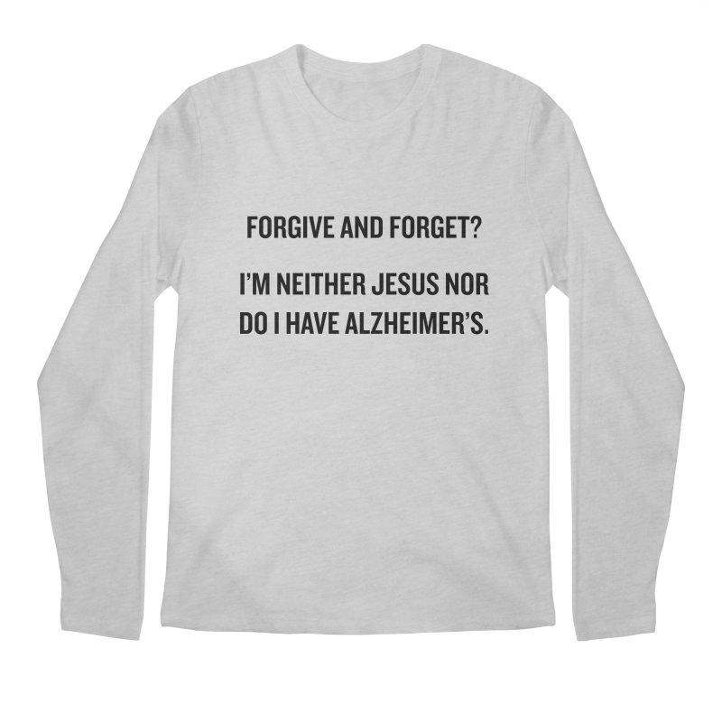 "SIDE EYE/""Forgive and Forget"" (Black) Men's Longsleeve T-Shirt by Josh Sabarra's Shop"