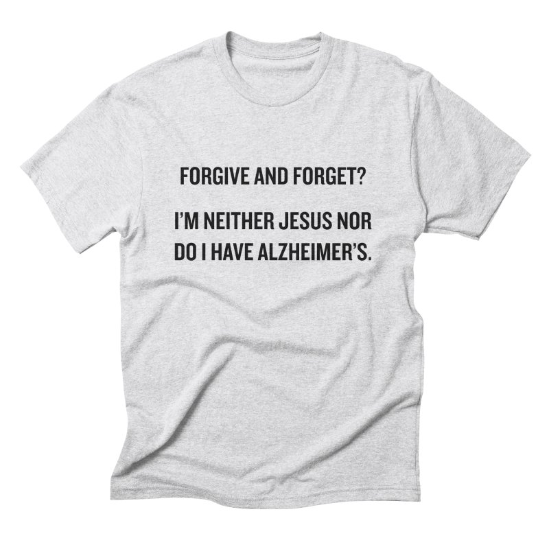 "SIDE EYE/""Forgive and Forget"" (Black) Men's Triblend T-Shirt by Josh Sabarra's Shop"
