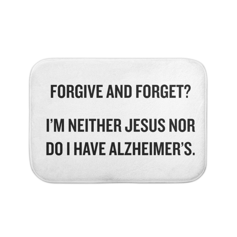 "SIDE EYE/""Forgive and Forget"" (Black) Home Bath Mat by Josh Sabarra's Shop"