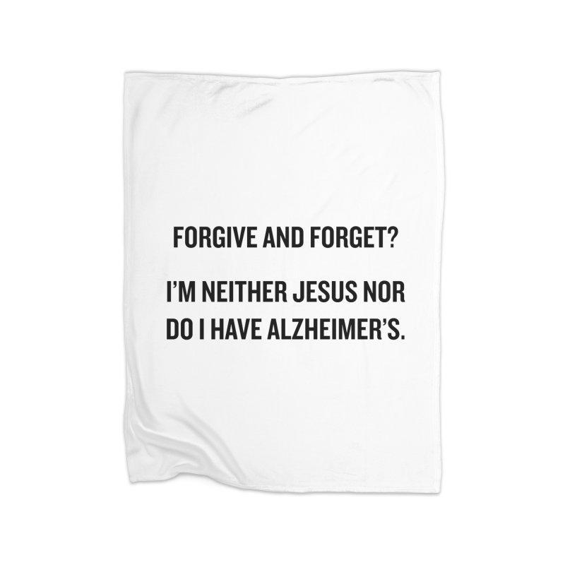 "SIDE EYE/""Forgive and Forget"" (Black) Home Blanket by Josh Sabarra's Shop"