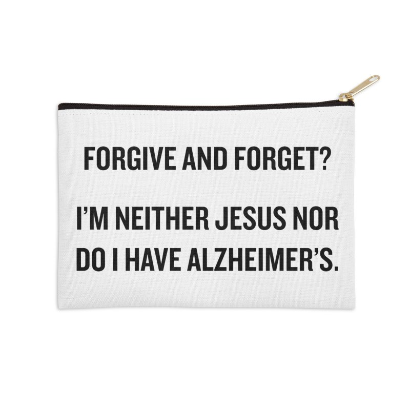 """SIDE EYE/""""Forgive and Forget"""" (Black) Accessories Zip Pouch by Josh Sabarra's Shop"""