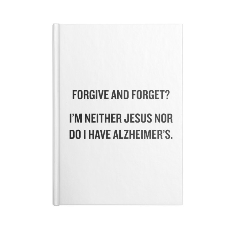 "SIDE EYE/""Forgive and Forget"" (Black) Accessories Notebook by Josh Sabarra's Shop"