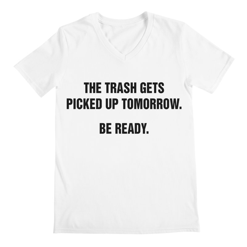 "SIDE EYE/""Trash"" (Black) Men's V-Neck by Josh Sabarra's Shop"