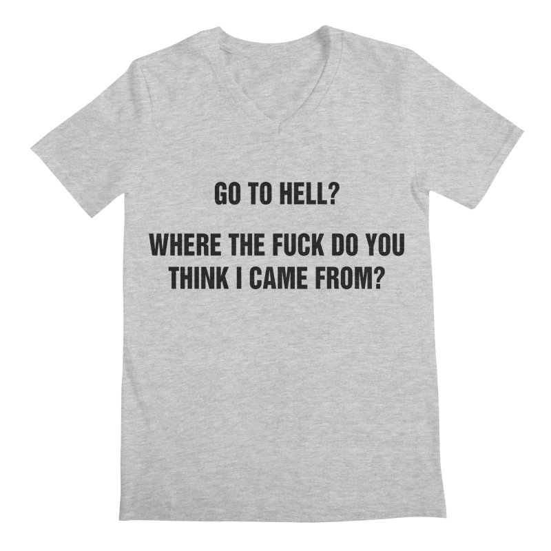 "SIDE EYE/""From Hell"" (Black) Men's V-Neck by Josh Sabarra's Shop"