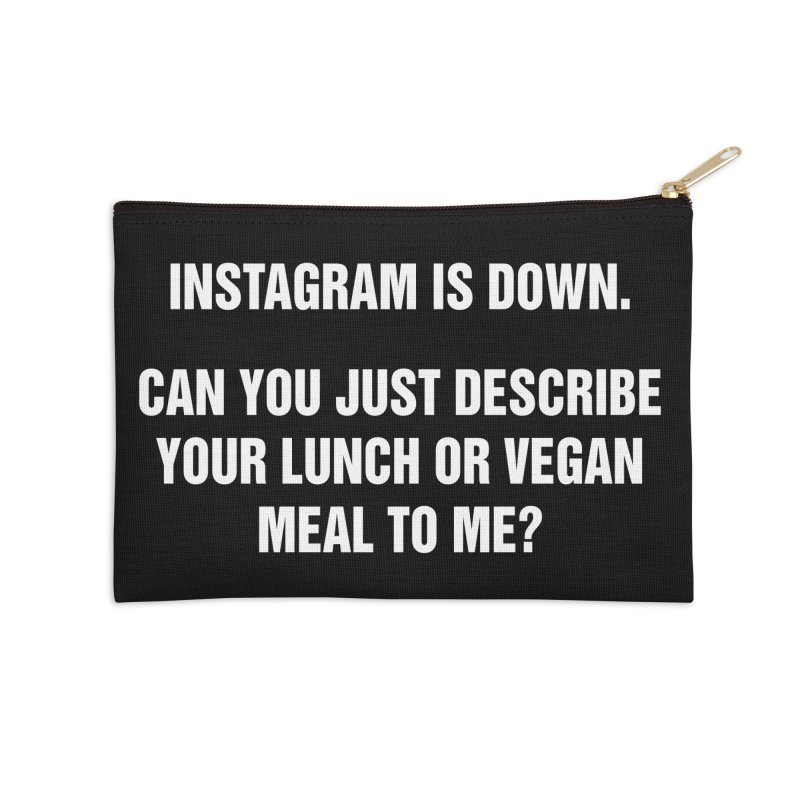 "SIDE EYE/""Instagram Lunch"" (White) Accessories Zip Pouch by Josh Sabarra's Shop"