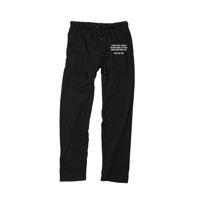"SIDE EYE/""Your Shoes"" (White) Men's Lounge Pants by Josh Sabarra's Shop"