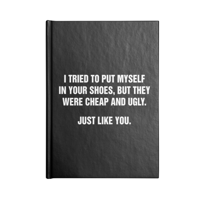 """SIDE EYE/""""Your Shoes"""" (White) Accessories Notebook by Josh Sabarra's Shop"""