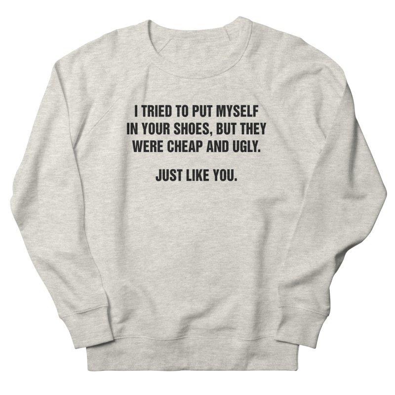 "SIDE EYE/""Your Shoes"" (Black) Men's Sweatshirt by Josh Sabarra's Shop"