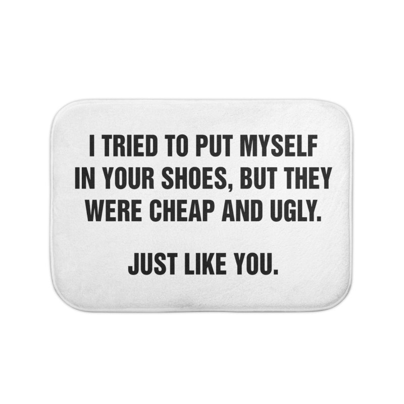 "SIDE EYE/""Your Shoes"" (Black) Home Bath Mat by Josh Sabarra's Shop"