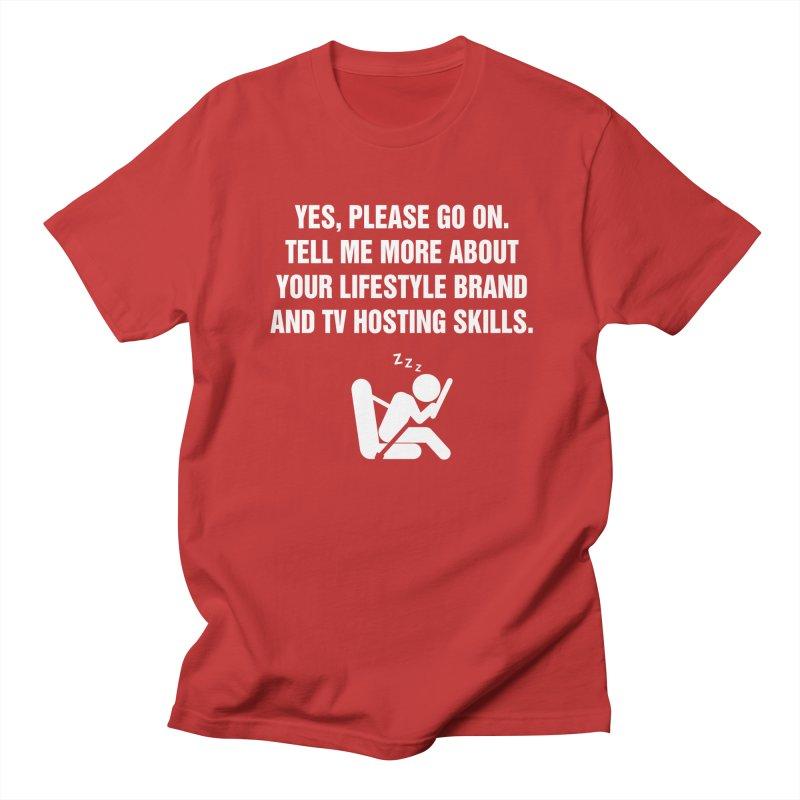"SIDE EYE/""Lifestyle Host"" (White) Women's Unisex T-Shirt by Josh Sabarra's Shop"