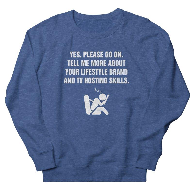 "SIDE EYE/""Lifestyle Host"" (White) Women's Sweatshirt by Josh Sabarra's Shop"