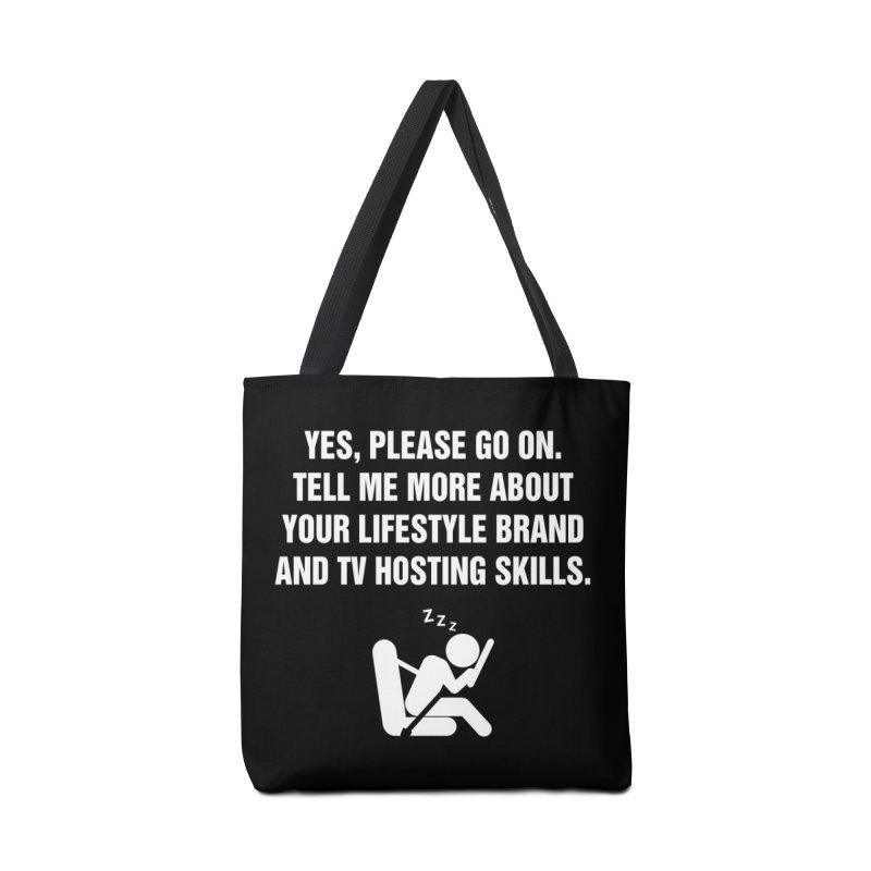 "SIDE EYE/""Lifestyle Host"" (White) Accessories Bag by Josh Sabarra's Shop"