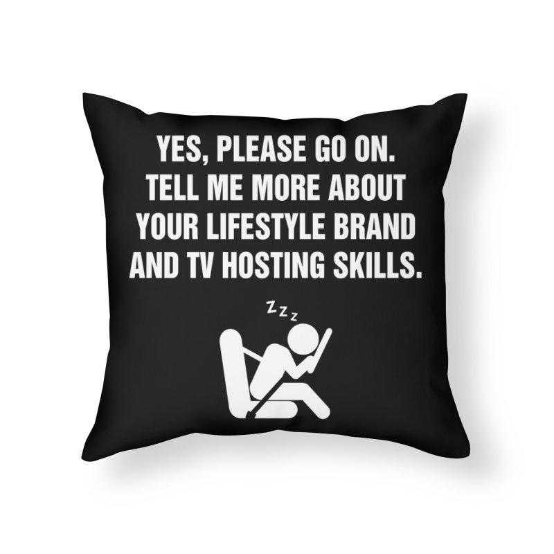 "SIDE EYE/""Lifestyle Host"" (White) Home Throw Pillow by Josh Sabarra's Shop"