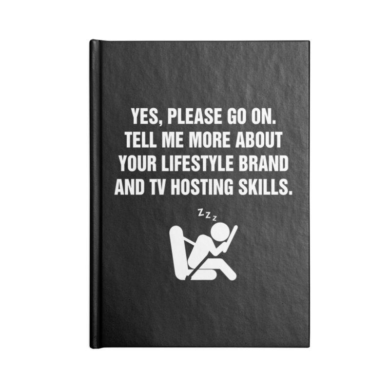 "SIDE EYE/""Lifestyle Host"" (White) Accessories Notebook by Josh Sabarra's Shop"