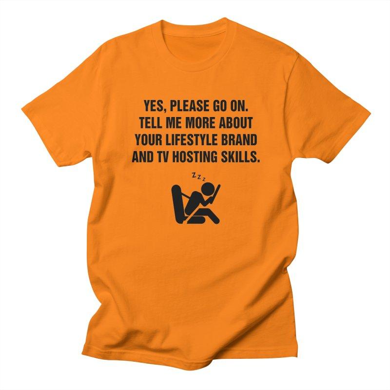 "SIDE EYE/""Lifestyle Host"" (Black) Men's T-Shirt by Josh Sabarra's Shop"