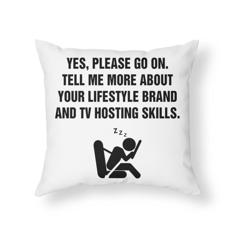"SIDE EYE/""Lifestyle Host"" (Black) Home Throw Pillow by Josh Sabarra's Shop"