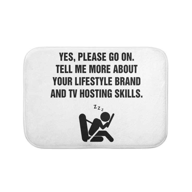 "SIDE EYE/""Lifestyle Host"" (Black) Home Bath Mat by Josh Sabarra's Shop"
