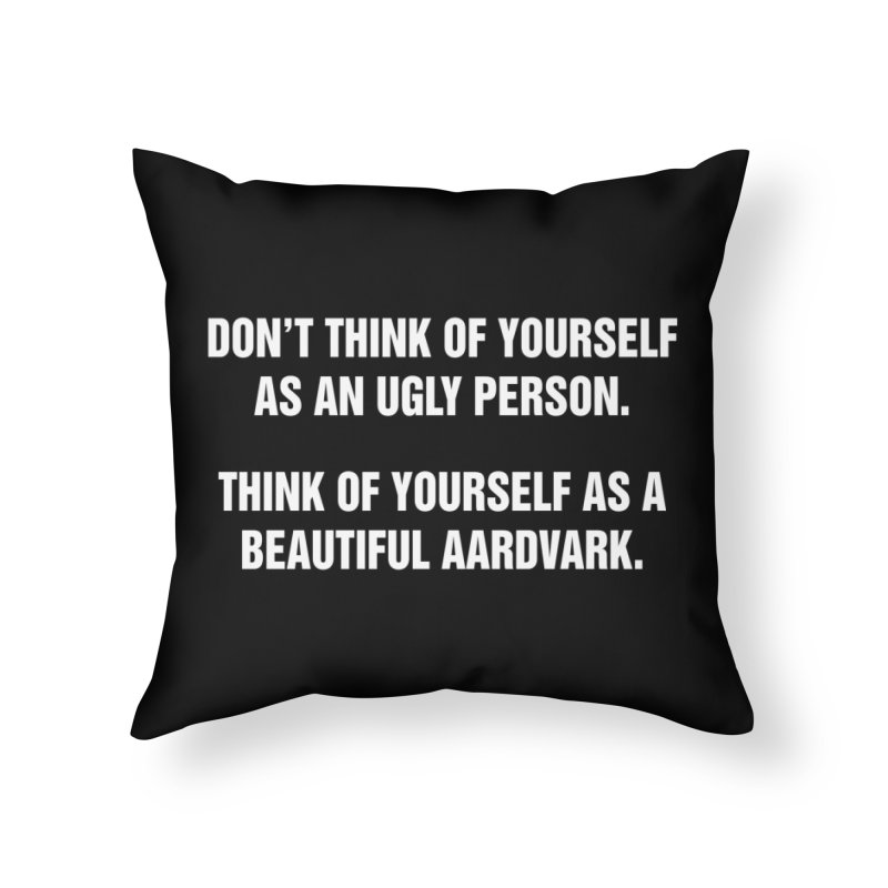 """SIDE EYE/""""Ugly Person"""" (White) Home Throw Pillow by Josh Sabarra's Shop"""