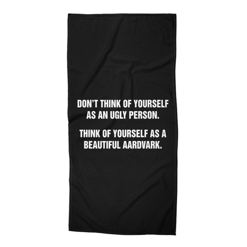 """SIDE EYE/""""Ugly Person"""" (White) Accessories Beach Towel by Josh Sabarra's Shop"""